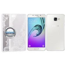 Engrave Lotus dėklas nugarėlė Samsung Galaxy A5 (2016) telefonams baltos spalvos