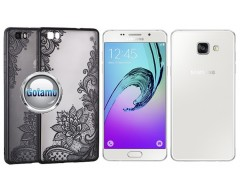 Engrave Lotus dėklas nugarėlė Samsung Galaxy A5 (2016) telefonams juodos spalvos