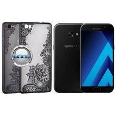 Engrave Lotus nugarėlė Samsung Galaxy J3 (2017) telefonams juodos spalvos