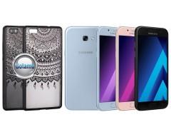 Engrave Tidy dėklas nugarėlė Samsung Galaxy A5 (2017) telefonams juodos spalvos