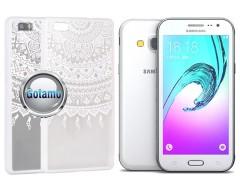 Engrave Tidy dėklas nugarėlė Samsung Galaxy J3 (2016) telefonams baltos spalvos