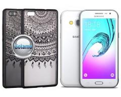 Engrave Tidy dėklas nugarėlė Samsung Galaxy J3 (2016) telefonams juodos spalvos