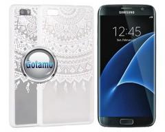Engrave Tidy dėklas nugarėlė Samsung Galaxy S7 telefonams baltos spalvos