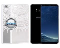 Engrave Tidy dėklas nugarėlė Samsung Galaxy S8+ telefonams baltos spalvos