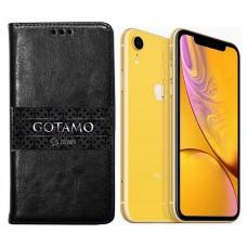 Gotamo D-gravity natūralios odos dėklas Apple iPhone XR mobiliesiems telefonams juodos spalvos Vilnius | Telšiai | Telšiai