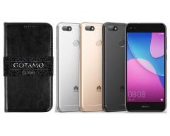 Gotamo D-gravity natūralios odos dėklas Huawei P9 Lite mini mobiliesiems telefonams juodos spalvos