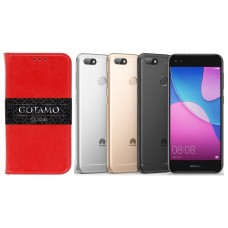 Gotamo D-gravity natūralios odos dėklas Huawei P9 Lite mini mobiliesiems telefonams raudonos spalvos Šiauliai | Šiauliai | Šiauliai