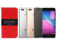 Gotamo D-gravity natūralios odos dėklas Huawei P9 Lite mini mobiliesiems telefonams raudonos spalvos