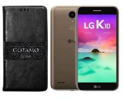 Gotamo D-gravity natūralios odos dėklas LG K10 (2017) mobiliesiems telefonams