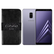Gotamo D-gravity natūralios odos dėklas Samsung Galaxy A8+ (2018) mobiliesiems telefonams juodos spalvos Palanga | Klaipėda | Klaipėda