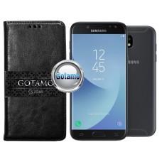 Gotamo D-gravity natūralios odos dėklas Samsung Galaxy J5 (2017) J5 Pro mobiliesiems telefonams juodos spalvos