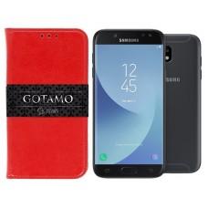 Gotamo D-gravity natūralios odos dėklas Samsung Galaxy J5 (2017) J5 Pro mobiliesiems telefonams raudonos spalvos