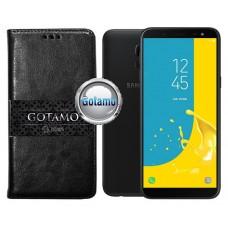 Gotamo D-gravity natūralios odos dėklas Samsung Galaxy J6 (2018) mobiliesiems telefonams juodos spalvos Palanga | Plungė | Palanga
