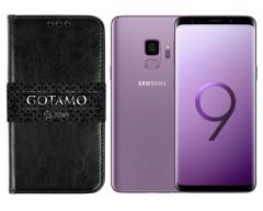 Gotamo D-gravity natūralios odos dėklas Samsung Galaxy S9 mobiliesiems telefonams juodos spalvos