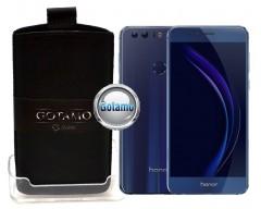 Gotamo Insert įmaunamas natūralios odos dėklas Huawei Honor 8 telefonams juodos spalvos
