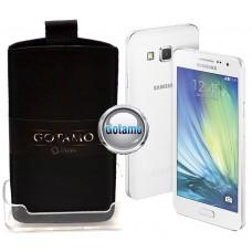 Gotamo Insert įmaunamas natūralios odos dėklas Samsung Galaxy A5 telefonams juodos spalvos Palanga | Šiauliai | Plungė
