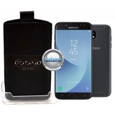 Gotamo Insert įmaunamas natūralios odos dėklas Samsung Galaxy J5 (2017) J5 Pro telefonams juodos spalvos