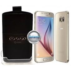 Gotamo Insert įmaunamas natūralios odos dėklas Samsung Galaxy S6 telefonams juodos spalvos Palanga   Telšiai   Klaipėda