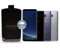 Gotamo Insert įmaunamas natūralios odos dėklas Samsung Galaxy S8 telefonams juodos spalvos