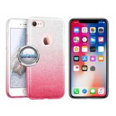 iLLuminaTe silikoninis dėklas nugarėlė Apple iPhone X Xs telefonams rožinės spalvos