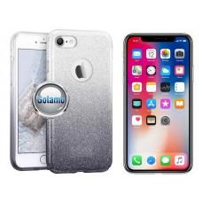 iLLuminaTe silikoninis dėklas nugarėlė Apple iPhone X Xs telefonams sidabro spalvos