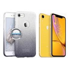 iLLuminaTe silikoninis dėklas nugarėlė Apple iPhone XR telefonams sidabro spalvos