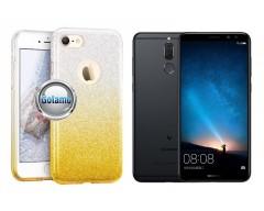 iLLuminaTe silikoninis dėklas nugarėlė Huawei Mate 10 Lite telefonams aukso spalvos