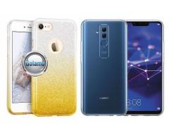 iLLuminaTe silikoninis dėklas nugarėlė Huawei Mate 20 Lite telefonams aukso spalvos