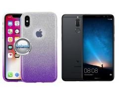 iLLuminaTe silikoninis dėklas nugarėlė Huawei P Smart telefonams violetinės spalvos
