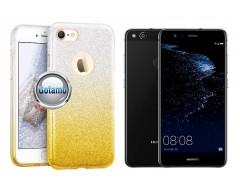 iLLuminaTe silikoninis dėklas nugarėlė Huawei P10 Lite telefonams aukso spalvos