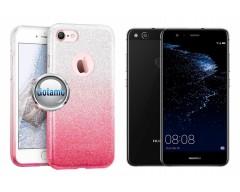 iLLuminaTe silikoninis dėklas nugarėlė Huawei P10 Lite telefonams rožinės spalvos