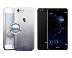 iLLuminaTe silikoninis dėklas nugarėlė Huawei P10 Lite telefonams sidabro spalvos