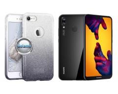iLLuminaTe silikoninis dėklas nugarėlė Huawei P20 Lite telefonams sidabro spalvos