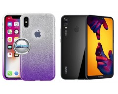 iLLuminaTe silikoninis dėklas nugarėlė Huawei P20 Lite telefonams violetinės spalvos