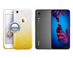iLLuminaTe silikoninis dėklas nugarėlė Huawei P20 telefonams aukso spalvos
