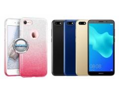 iLLuminaTe silikoninis dėklas nugarėlė Huawei Y5 (2018) Huawei Honor 7S telefonams rožinės spalvos