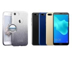 iLLuminaTe silikoninis dėklas nugarėlė Huawei Y5 (2018) Huawei Honor 7S telefonams sidabro spalvos