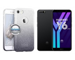 iLLuminaTe silikoninis dėklas nugarėlė Huawei Y6 (2018) Huawei Honor 7A telefonams sidabro spalvos