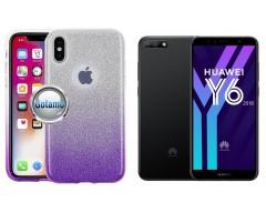 iLLuminaTe silikoninis dėklas nugarėlė Huawei Y6 (2018) Huawei Honor 7A telefonams violetinės spalvos