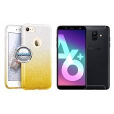 iLLuminaTe silikoninis dėklas nugarėlė Samsung Galaxy A6+ (2018) telefonams aukso spalvos Telšiai | Klaipėda | Plungė