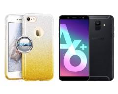 iLLuminaTe silikoninis dėklas nugarėlė Samsung Galaxy A6+ (2018) telefonams aukso spalvos