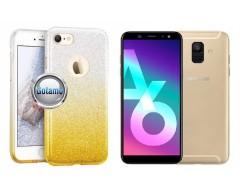 iLLuminaTe silikoninis dėklas nugarėlė Samsung Galaxy A6 (2018) telefonams aukso spalvos