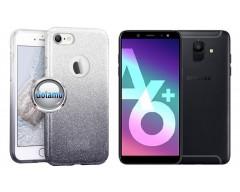 iLLuminaTe silikoninis dėklas nugarėlė Samsung Galaxy A6+ (2018) telefonams sidabro spalvos