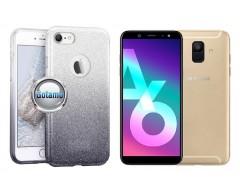 iLLuminaTe silikoninis dėklas nugarėlė Samsung Galaxy A6 (2018) telefonams sidabro spalvos