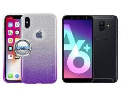 iLLuminaTe silikoninis dėklas nugarėlė Samsung Galaxy A6+ (2018) telefonams violetinės spalvos