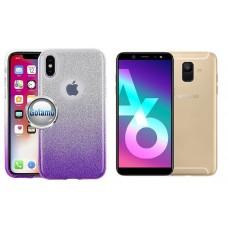 iLLuminaTe silikoninis dėklas nugarėlė Samsung Galaxy A6 (2018) telefonams violetinės spalvos