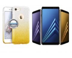 iLLuminaTe silikoninis dėklas nugarėlė Samsung Galaxy A8 (2018) telefonams aukso spalvos