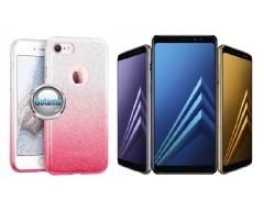 iLLuminaTe silikoninis dėklas nugarėlė Samsung Galaxy A8 (2018) telefonams rožinės spalvos