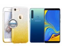 iLLuminaTe silikoninis dėklas nugarėlė Samsung Galaxy A9 (2018) telefonams aukso spalvos