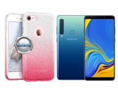 iLLuminaTe silikoninis dėklas nugarėlė Samsung Galaxy A9 (2018) telefonams rožinės spalvos